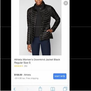 Athleta Jackets & Coats - asymmetric zip athleta puffer jacket